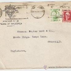 Sellos: SOBRE CIRCULADO PALMA DE MALLORCA - SHEFFIELD 1933. Lote 27615941