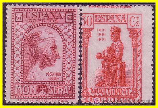 1931 IX CENT. MONTSERRAT EDIFIL Nº 642 Y 643 (*) (Sellos - España - II República de 1.931 a 1.939 - Nuevos)