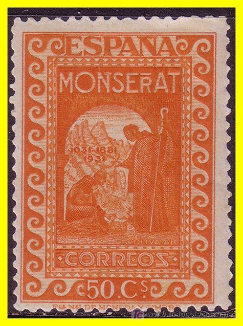 1931 IX CENT. MONTSERRAT EDIFIL Nº 645 * * (Sellos - España - II República de 1.931 a 1.939 - Nuevos)