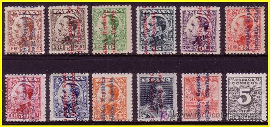 1931 DERECHO DE ENTREGA Y ALFONSO XIII R.E, EDIFIL Nº 592 A 603 * (Sellos - España - II República de 1.931 a 1.939 - Nuevos)