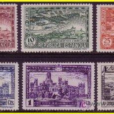 Sellos: 1931 III CONGRESO DE LA UPP, EDIFIL Nº 614 A 619 *. Lote 20132731