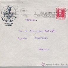 Sellos: CARTA DE MADRID A SEVILLA DE 27 SEP. 1935. MEMBRETE: LA FORTUNA S.A. MADRID.. Lote 22569646