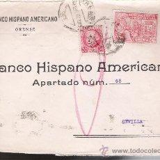 Sellos: CARTA DE ORENSE A SEVILLA DE 4 FEB.1937,CON SELLO 30 CTS.REPÚBLICA Y DE 10 CTS. BENEFICENCIA PRO-. Lote 22570087