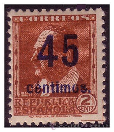 1938 BLASCO IBÁÑEZ + 45 CTS, EDIFIL Nº NE * * (Sellos - España - II República de 1.931 a 1.939 - Nuevos)