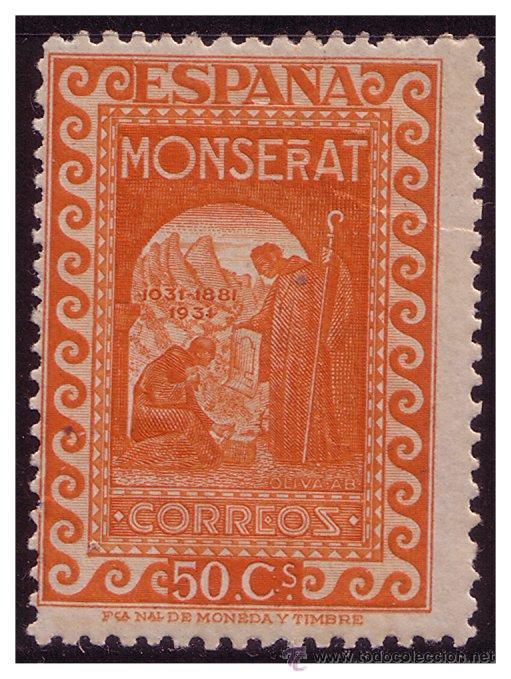 1931 MONTSERRAT, EDIFIL Nº 645 * * (Sellos - España - II República de 1.931 a 1.939 - Nuevos)