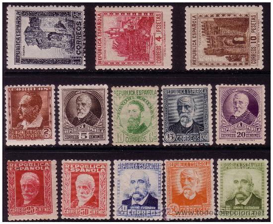 1932 PERSONAJES Y MONUMENTOS, EDIFIL Nº 662 A 675 * (Sellos - España - II República de 1.931 a 1.939 - Nuevos)