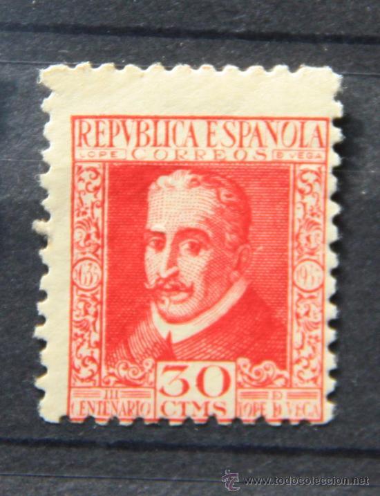 ESPAÑA SPAIN EDIFIL 691 AÑO 1935 LOPE DE VEGA................ES-520 (Sellos - España - II República de 1.931 a 1.939 - Nuevos)