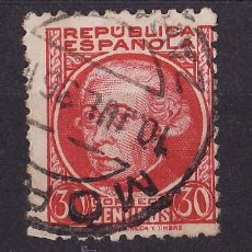 Sellos: 1934-35 PERSONAJES JOVELLANOS MATASELLO ORDINARIA MORES ZARAGOZA 10 JUL 36. Lote 24458624