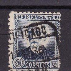 Sellos: 1934 - 35 PERSONAJES SALMERON MANFIL 688 MATASELLO CERTIFICADOS BILBAO X1 ENE 36. Lote 24806973