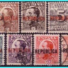 Sellos: ELR VALENCIA 1931 SELLOS MONÁRQUICOS HABILITADOS, EDIFIL Nº 1 A 9 (O). Lote 25849068