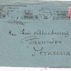 Sellos: CARTA CON MEMBRETE. DE SEVILLA A ARACENA.DE 7 OCTUBRE 1933. FRANQUEADO CON SELLO 669.. Lote 26710933
