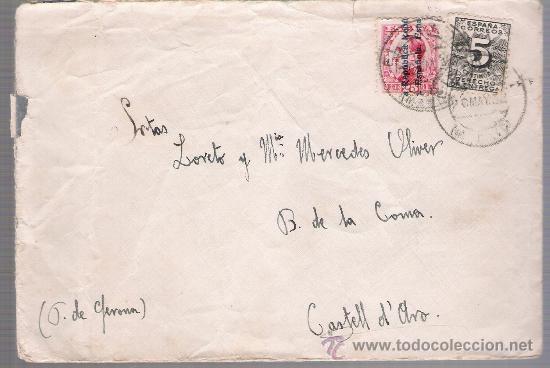 CARTA DE MADRID A CASTELL D´ARO.DE 20 MAYO 1932, FRANQUEADO CON SELLO 592 Y 598. (Sellos - España - II República de 1.931 a 1.939 - Cartas)