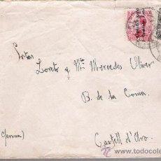 Sellos: CARTA DE MADRID A CASTELL D´ARO.DE 20 MAYO 1932, FRANQUEADO CON SELLO 592 Y 598.. Lote 26749940