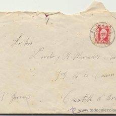Sellos: CARTA DE EL PARDO A CASTELL D´ARO. DE 7 DE SEPT.DE 1932. FRANQUEADO CON SELLO 669,. Lote 26770731