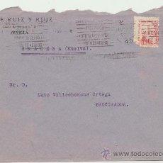 Sellos: CARTA CON MEMBRETE DE SEVILLA A ARACENA. DE 14 MAYO DE 1935. FRANQUEADO CON SELLO 687.. Lote 26773929