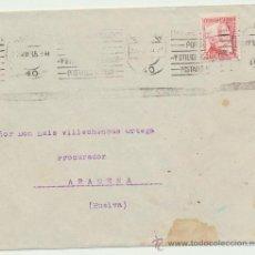 Sellos: CARTA CON MEMBRETE DE SEVILLA A ARACENA. DE 23 MAYO 1935. FRANQUEADO CON SELLO 687.. Lote 26774706