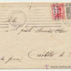 Sellos: CARTA DE MADRID A CASTILLO DE ARO. FRANQUEADA CON SELLOS 598 Y 592.. Lote 26776299