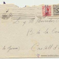 Sellos: CARTA DE EL PARDO A CASTELL D´ARO.DE 28 DE ABRIL DE 1932. FRANQUEADA CON SELLOS 592 Y 598.. Lote 26776488