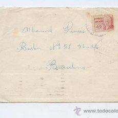 Sellos: CARTA DE CAMPDURA (GERONA) A BARCELONA 1937. Lote 26882823