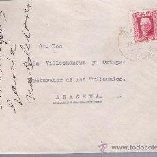 Sellos: CARTA DE GALAROZA A ARACENA. DEL 13 DE AGOSTO DE 1934. FRANQUEADO CON SELLO 659.. Lote 27395738