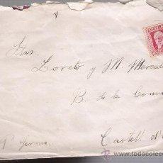 Sellos: CARTA DE EL PARDO A CASTELL DÁRO. DE 1932. FRANQUEADO CON SELLO 659.. Lote 27403943