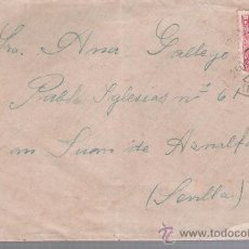 Sellos: CARTA DE GALAROZA A SEVILLA. DE 25 OCTUBRE 1934. FRANQUEADO CON SELLO 659.. Lote 27417417