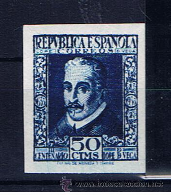 LOPE DE VEGA 1935 EDIFIL 692 NUEVO** VALOR 2010 CATALOGO 159 EUROS (Sellos - España - II República de 1.931 a 1.939 - Nuevos)