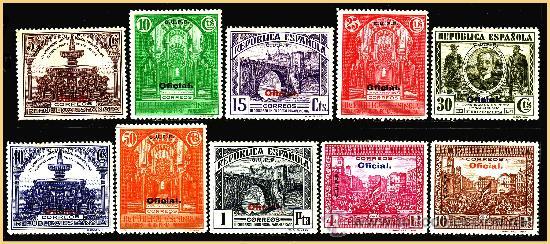 1931 III CONGRESO UPP (CUPP), EDIFIL Nº 620H A 629H * (Sellos - España - II República de 1.931 a 1.939 - Nuevos)