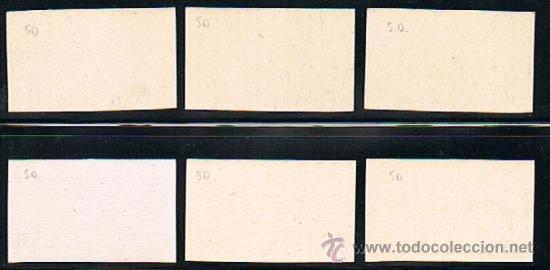Sellos: ESPAÑA 1938 Correo Submarino (775 pcs a 780 pcs) papel cartón sin dentar - Foto 2 - 28819077