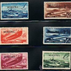 Sellos: ESPAÑA 1938 CORREO SUBMARINO (775 M A 780 M) SOBRECARGA MUESTRA . Lote 28819340