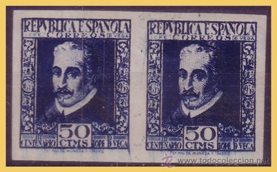 1935 III CENT. MUERTE LOPE DE VEGA, B2 EDIFIL Nº 692 * (Sellos - España - II República de 1.931 a 1.939 - Nuevos)
