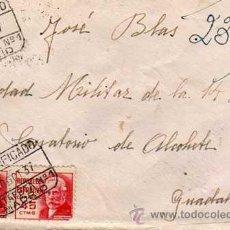 Sellos: CERTIFICADO. 1937. REPUBLICA ESPAÑOLA, 2 SELLOS 45 CTS. SOBRE CON CARTA.. Lote 29146938