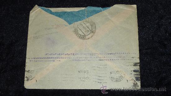 Sellos: Sobre de 1933 de calella a Gibraltar , con sello y tampon de II republica española. - Foto 3 - 29354264