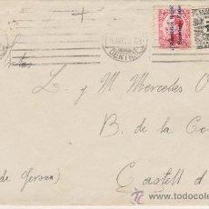 Sellos: CARTA DE MADRID A CASTELL D´ORO. DE 25 ABRIL 1932, FRANQUEADO CON SELLOS 598 Y 592.. Lote 29520517