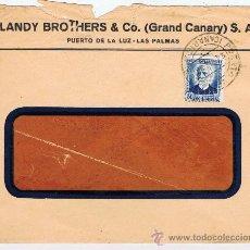 Sellos: CIRCULADO 1936 PUERTO DE LA LUZ LAS PALMAS CANARIAS. Lote 29844421