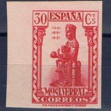 Sellos: MONASTERIO DE MONTSERRAT 1931 EDIFIL 643 SIN DENTAR NUEVO* . Lote 30083110