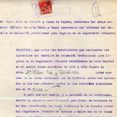 Sellos: DOCUMENTO CON SELLO. DIPUTACION DE VIZCAYA. IMPUESTO DE TIMBRE. ESCUELA MAGISTERIO.. Lote 31107958