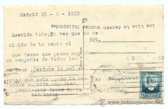 POSTAL AÑOS 30 CON EDIFIL 665 (Sellos - España - II República de 1.931 a 1.939 - Cartas)