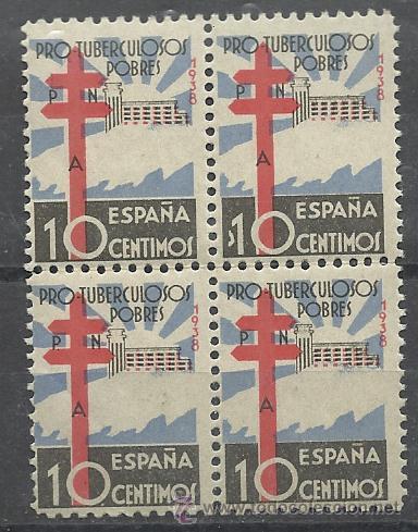 PRIMER CENTENARIO OPORTUNIDAD SERIE Nº 866 EN BLOQUE DE CUATRO NUEVO SIN CHARNELA (Sellos - España - II República de 1.931 a 1.939 - Nuevos)