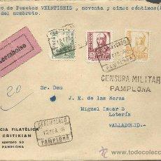 Francobolli: CARTA CON RARA CENSURA MILITAR DE PAMPLONA . Lote 32216442