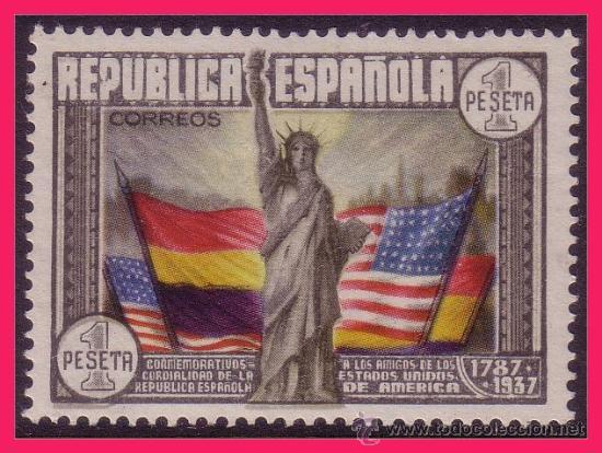 1938 CL ANIV. CONSTITUCIÓN EEUU, EDIFIL Nº 763 * * (Sellos - España - II República de 1.931 a 1.939 - Nuevos)