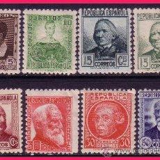 Sellos: 1935 PERSONAJES, EDIFIL Nº 681 A 688 * *. Lote 32743340