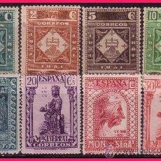 Sellos: 1931 IX CENTENARIO MONASTERIO MONTSERRAT, EDIFIL Nº 636 A 643 *. Lote 32743931