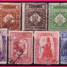 Sellos: 1931 IX CENTENARIO MONASTERIO MONTSERRAT, EDIFIL Nº 636 A 644 (O). Lote 32743943