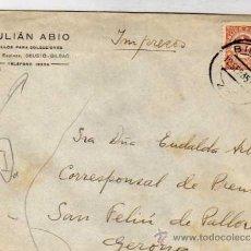 Sellos: SOBRE. JULIAN ABIO. SELLOS PARA COLECCIONES. DEUSTO BILBAO. REPUBLICA ESPAÑOLA.. Lote 33418007