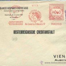 Sellos: AÑO 1937- SOBRE CON FRANQUEO MECÁNICO DIRIGIDA A VIENA. FRANQUEO ALTO. NITIDO. Lote 34005404