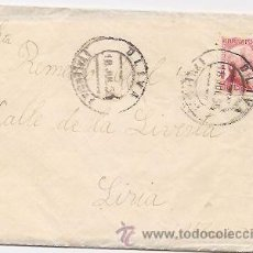 Sellos: CARTA CIRCULADA DESDE OLIVA A LIRIA (VALENCIA) EN 1935. Lote 34856433