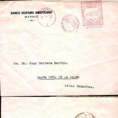 Sellos: 1933.-CARTA REPUBLICANA, FRANQUEO MECANICO CONCERTADO Y PUBLICIDAD,DE MADRID A STA. CRUZ DE LA PALMA. Lote 35444079