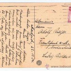Sellos: POSTAL CASINO DE MADRID CIRCULADA 1934 A FRANKFURT . Lote 35489838