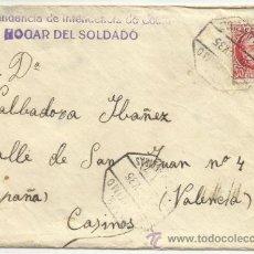 Sellos: A83-CARTA REPUBLICA CEUTA VALENCIA CON TEXTO.MATASELLOS AMBULANTE MARITIMO CEUTA-ALGECIRAS.VARIAS PA. Lote 35520064